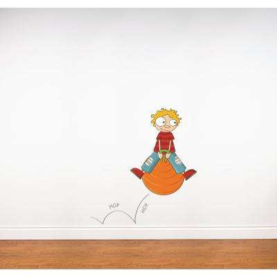 """(42 in x 45 in) Multi-Color """"Hop Hop"""" Kids Wall Decal"""