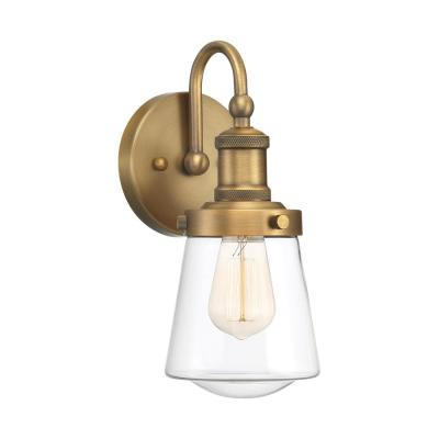 Taylor 1-Light Old Satin Brass Wall Sconce