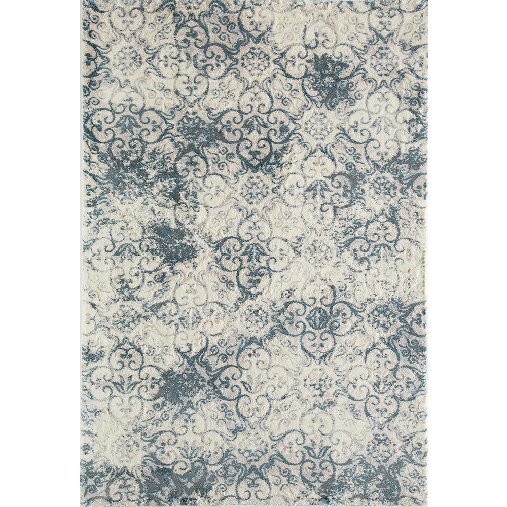 Rugs America Brisa Norwich Blue 2 Ft 0 In X 4 Rectangular Accent Rug