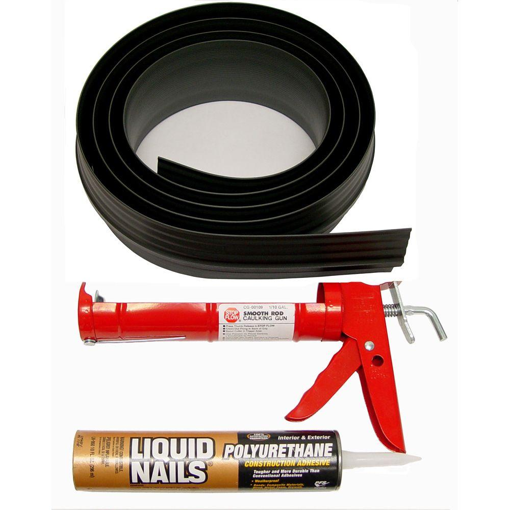 Tsunami Seal 10 ft. Black Garage Door Threshold Kit