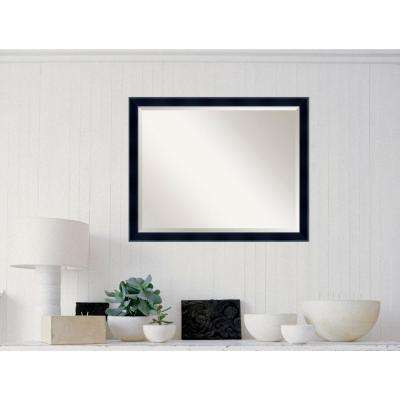 Madison Black Wood 31 in. W x 25 in. H Contemporary Framed Mirror