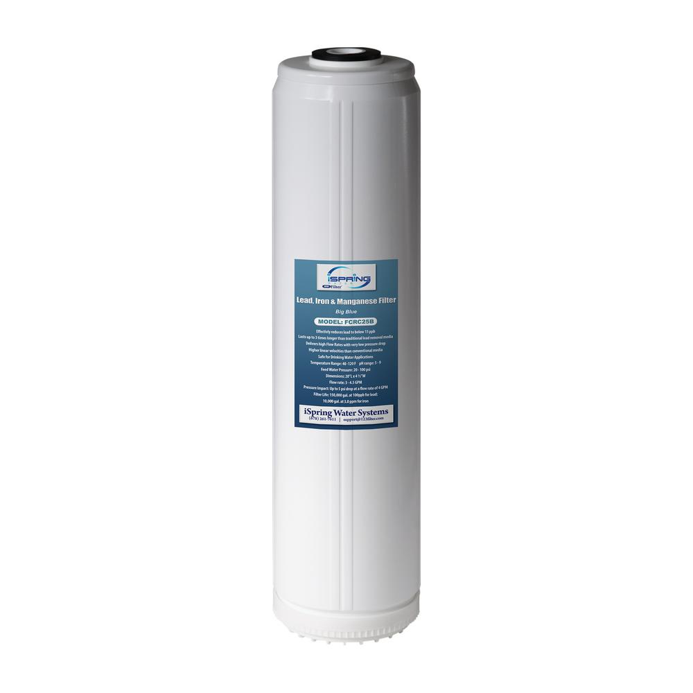 LittleWell Lead, Iron Removal Big Blue Whole House Replacement Water Filter