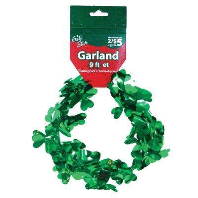 9 ft. St. Patrick Clover Wire Garland (Set of 4)
