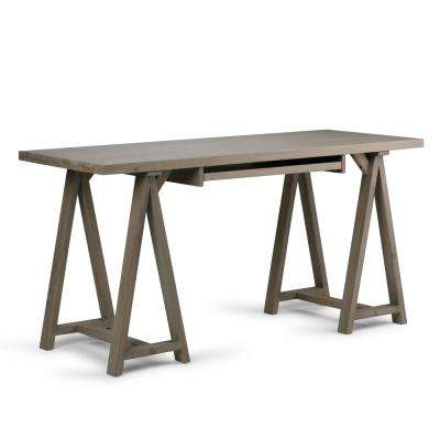 Sawhorse Distressed Grey Desk
