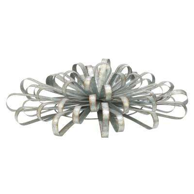 24 in. Silver Decorative Wall Bow