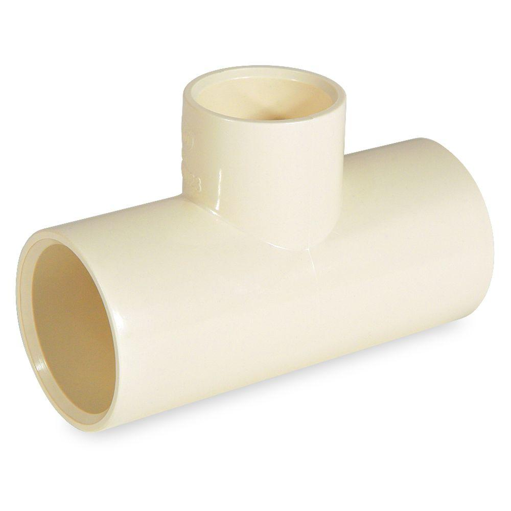 KBI 1 in. x 3/4 in. x 3/4 in. CPVC CTS Reducer Tee