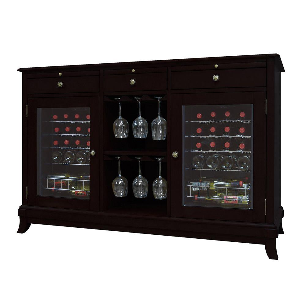 Vinotemp Cava 36-Bottle Wine Cooler Credenza in Espresso