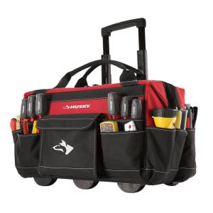 Husky 18 In Rolling Tool Tote Gp 43196n13 The Home Depot