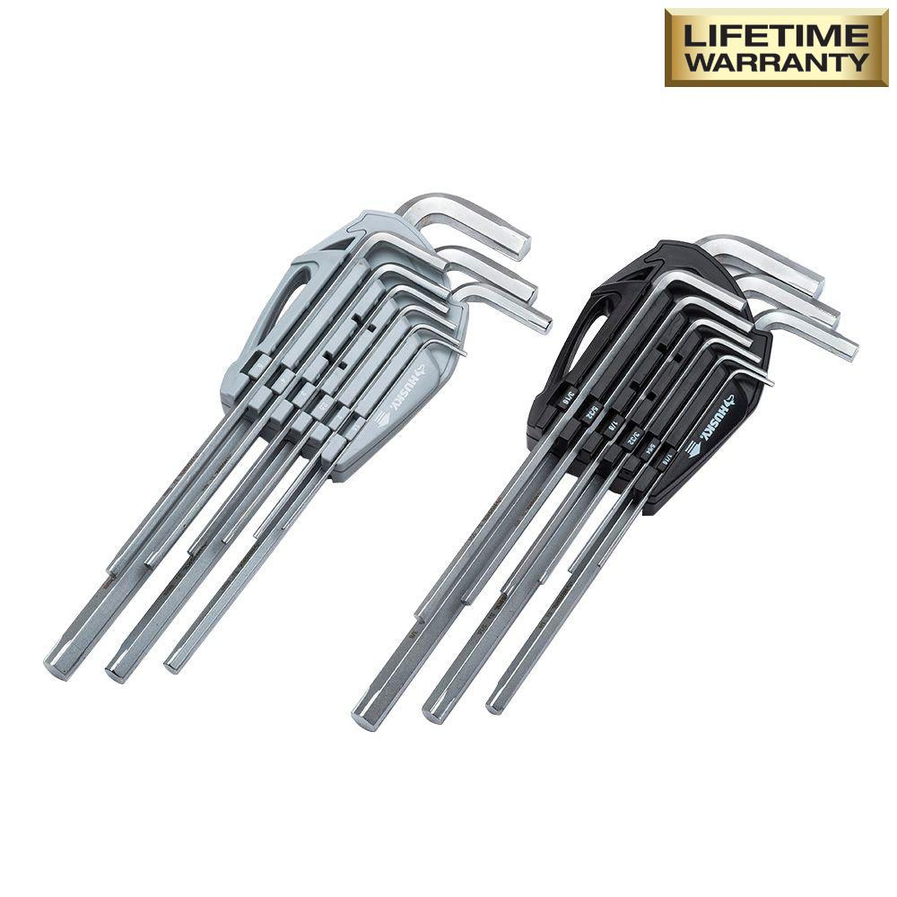 SAE / Metric Non-Slip Hex Key Set (18-Piece)