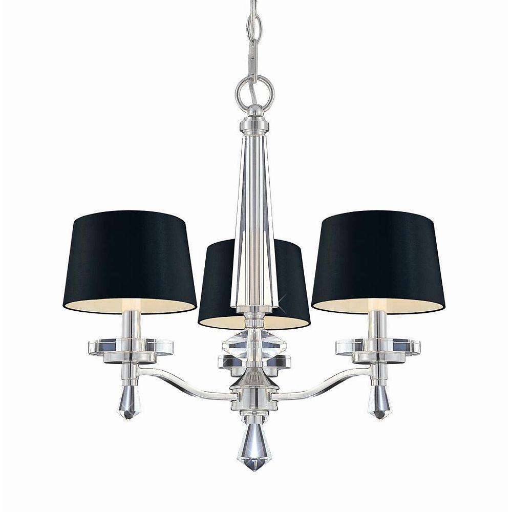 Hampton Bay Elora Collection 3-Light Chrome Chandelier