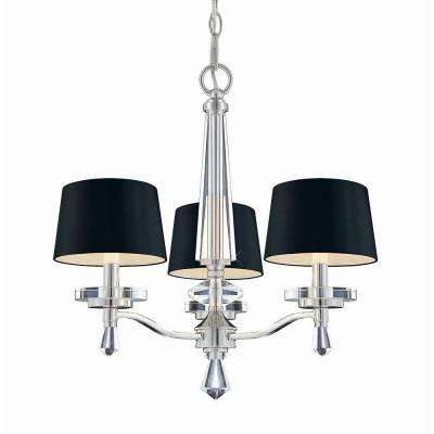 Elora Collection 3-Light Chrome Chandelier