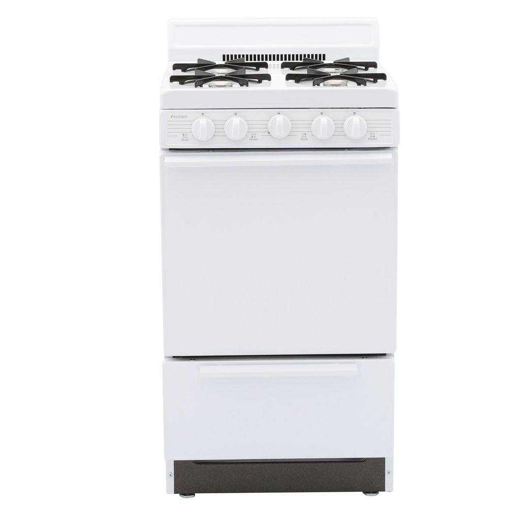Premier 20 in. 2.42 cu. ft. Gas Range in White