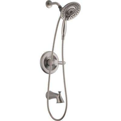 Lahara In2ition 2-in-1 Single-Handle 5-Spray Tub and Shower Faucet in Brushed Nickel