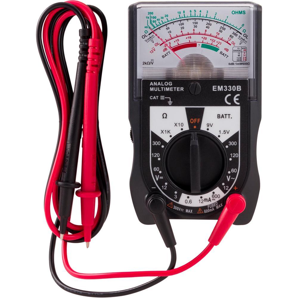 Power Gear 500-Volt Analog Multimeter
