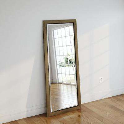 30 in. x 70.5 in. Golden Lowe Beveled Oversized Full Body Mirror
