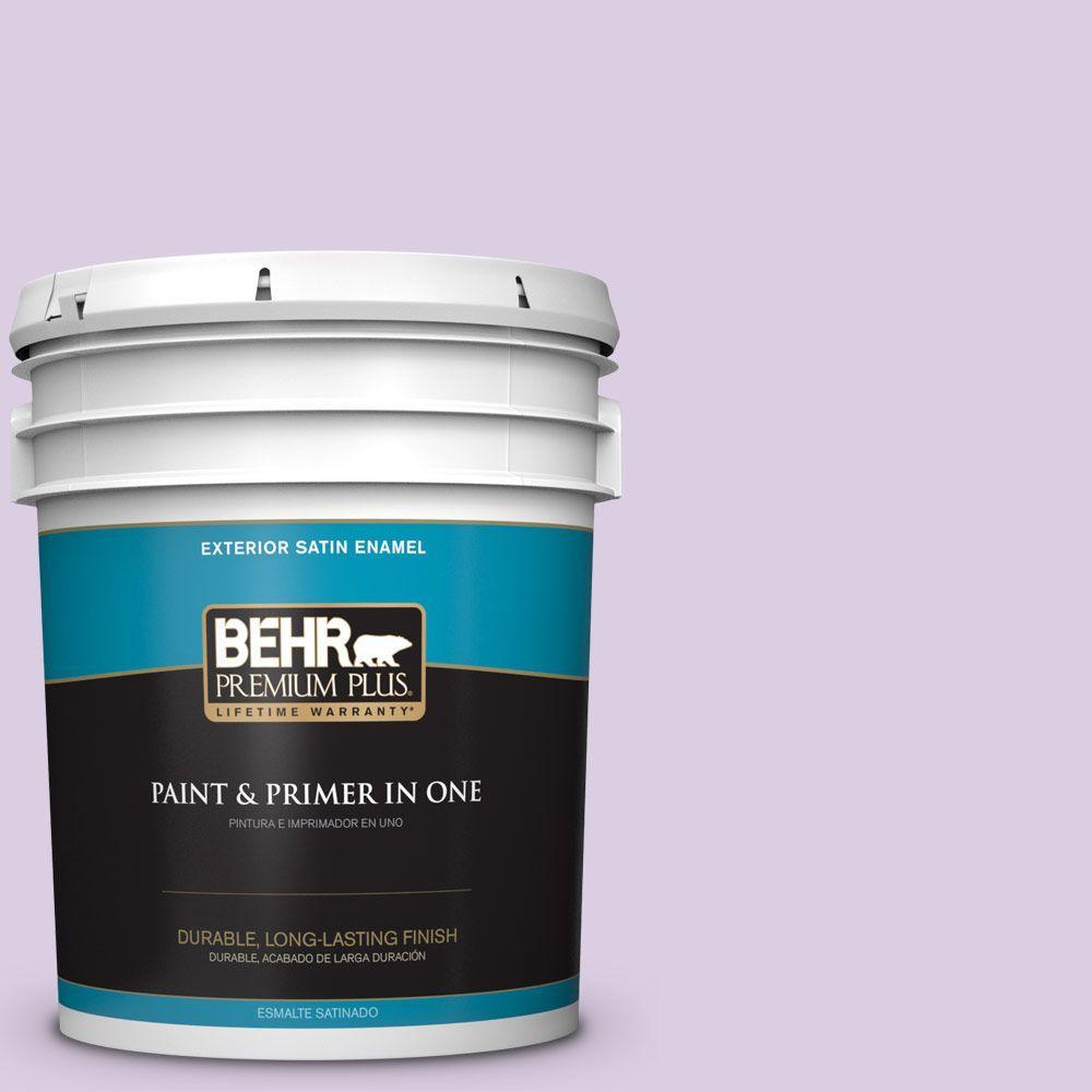 BEHR Premium Plus 5-gal. #660C-2 Violet Mist Satin Enamel Exterior Paint