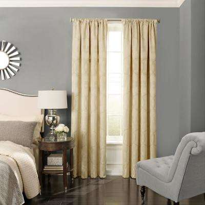 Odette 63 in. L Polyester Curtain in Pale Gold