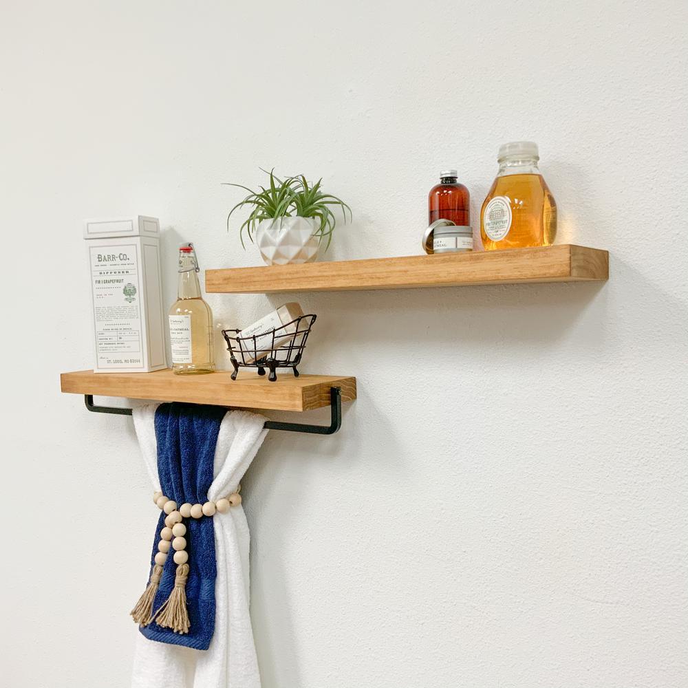 Pine wood gelaugt//oiled Wall Console Shelf Board Wall Board Wall Shelf 2stc