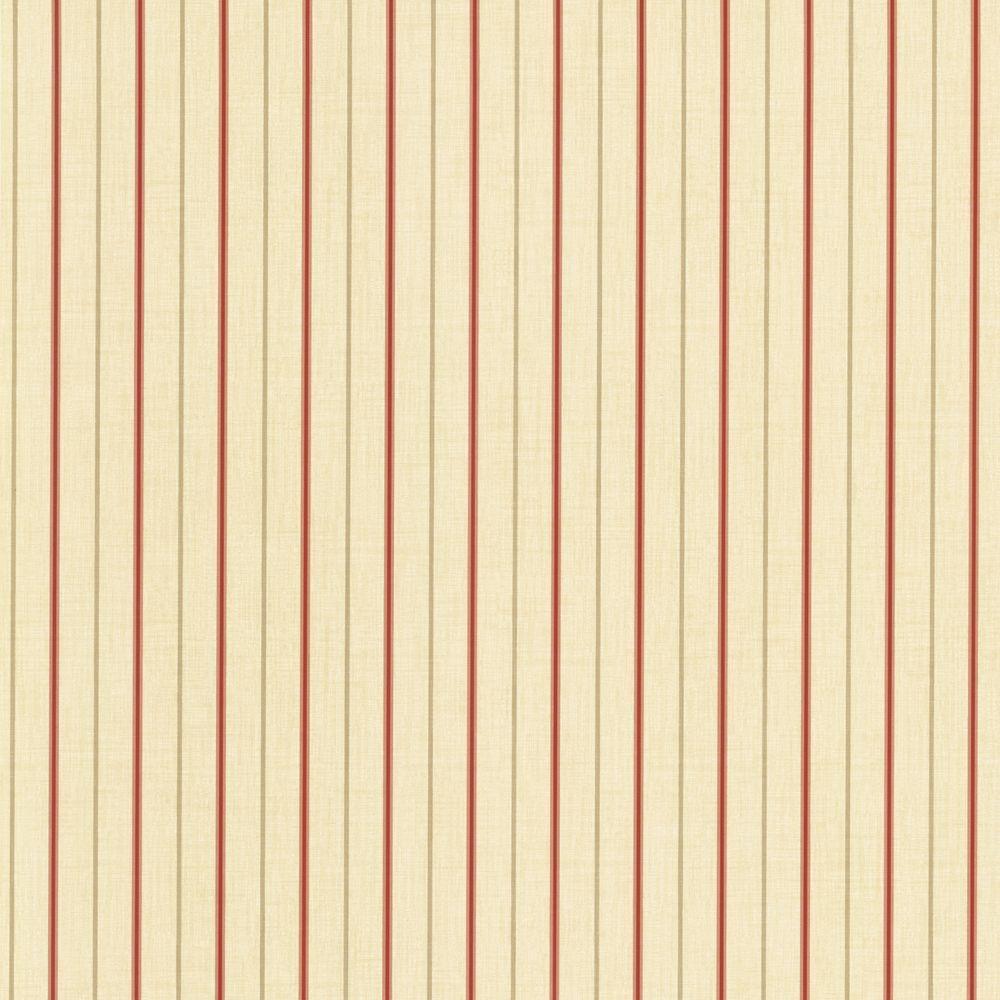 The Wallpaper Company 8 in. x 10 in. Crimson Langston Stripe Wallpaper Sample-DISCONTINUED