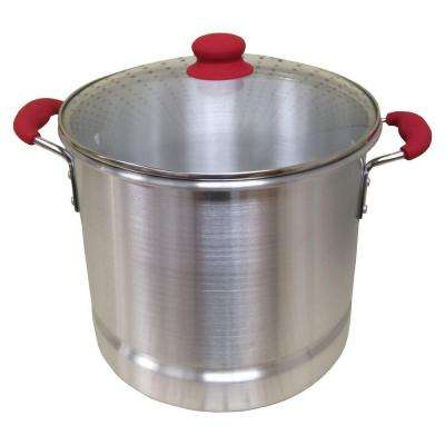 Aluminum 12 Qt. Stock Pot with Glass Lid