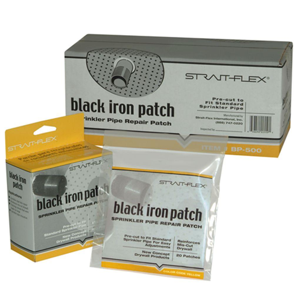 1-3/8 in. x 4.5 in. Hole Black-Iron Round Sprinkler Pipe Patch