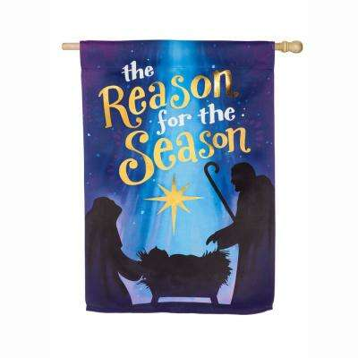 28 in. x 44 in. Reason for the Season House Suede Flag