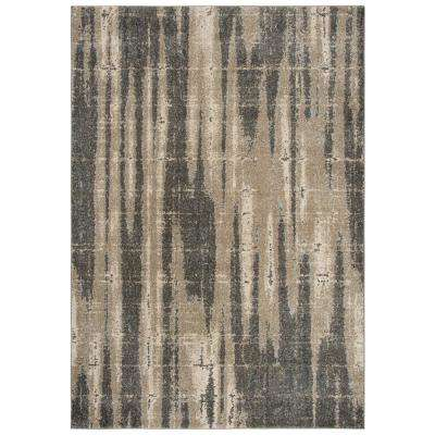 Venice Beige/Brown 3 ft. 11 in. x 5 ft. 6 in. Abstract Area Rug