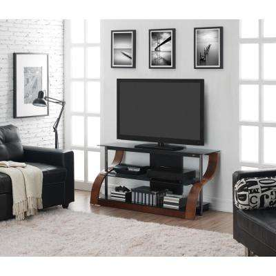 Vibrant Espresso Entertainment Center