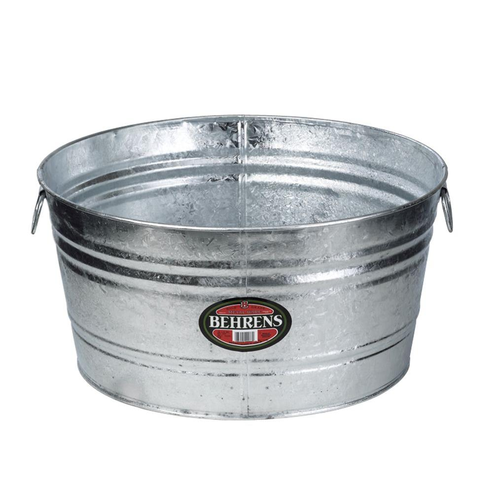 17 Gal. Hot Dipped Steel Round Tub