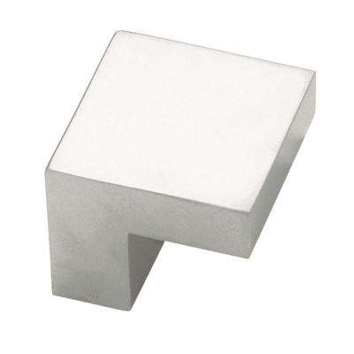 Plaza 5/8 in. (16mm) Aluminum 1 in. Wide Square Cabinet Knob