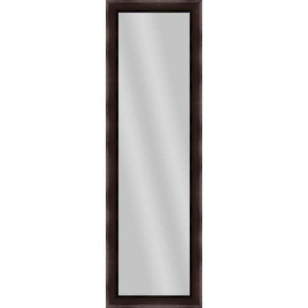 Large Rectangle Espresso Art Deco Mirror (51.5 in. H x 15.5 in. W)