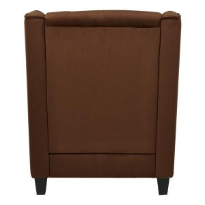 Prime Osp Home Furnishings Chocolate Velvet Tufted Arm Chair Cvs51 Ocoug Best Dining Table And Chair Ideas Images Ocougorg