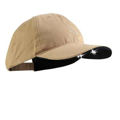 POWERCAP LED Hat 25/10 Ultra-Bright Hands Free Lighted Battery Powered Headlamp Khaki Unstructured Cotton