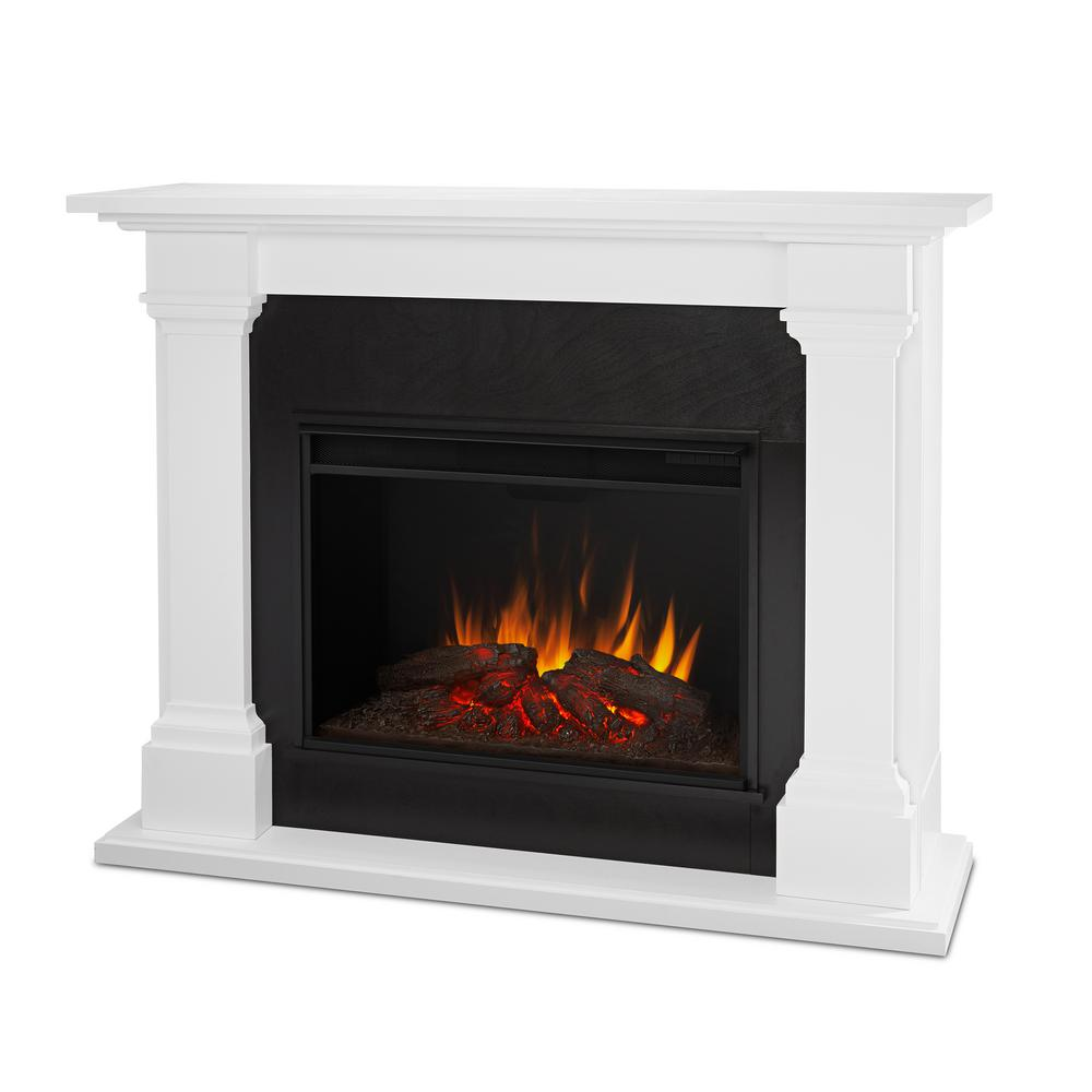 Excellent Real Flame Callaway Grand 63 In Electric Fireplace In White Interior Design Ideas Tzicisoteloinfo