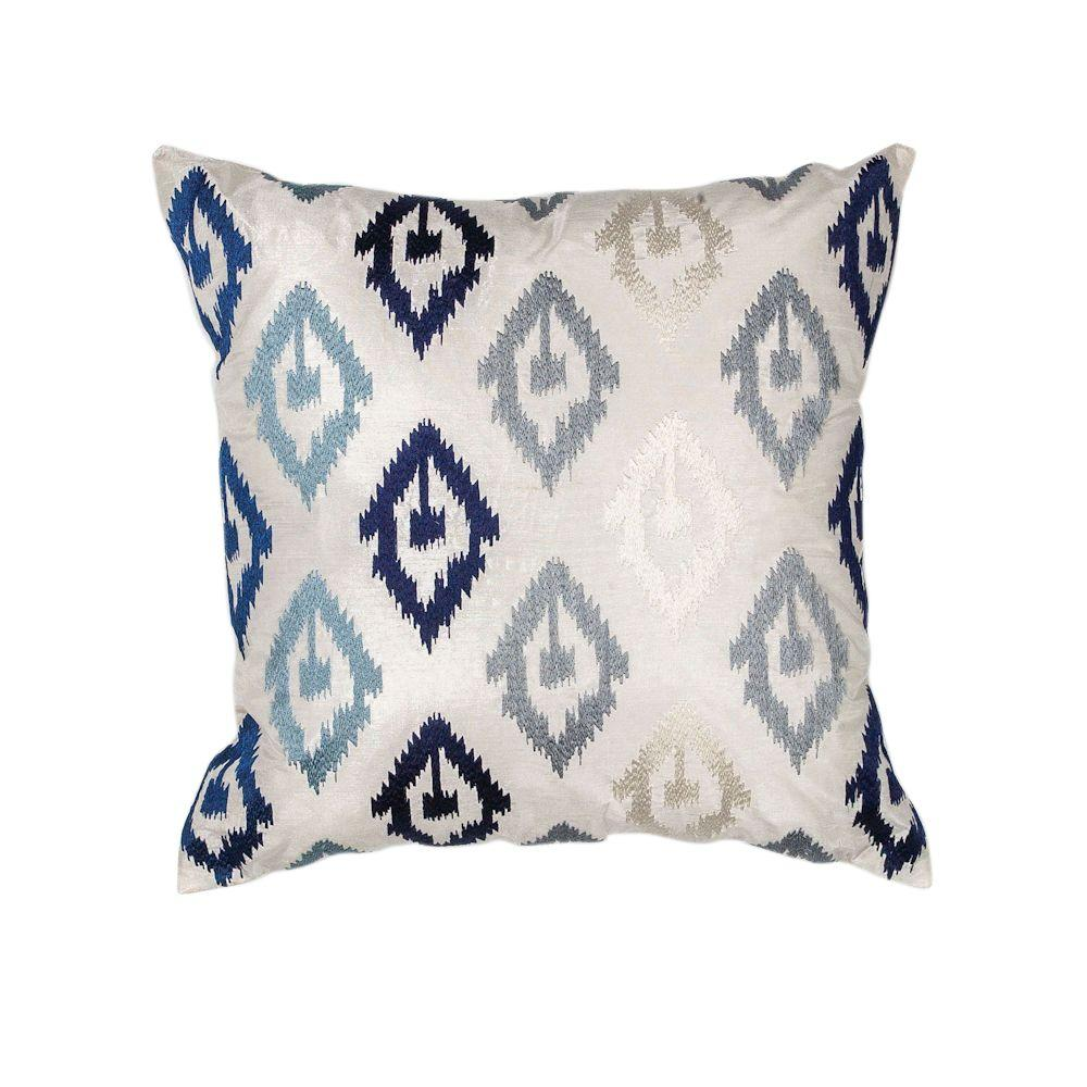 Diamond Scape Navy Grey Decorative Pillow