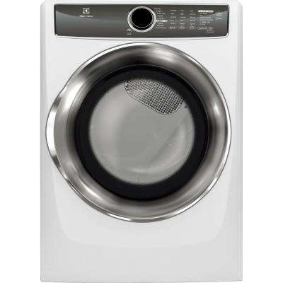80 cu ft electric dryer with steam in white