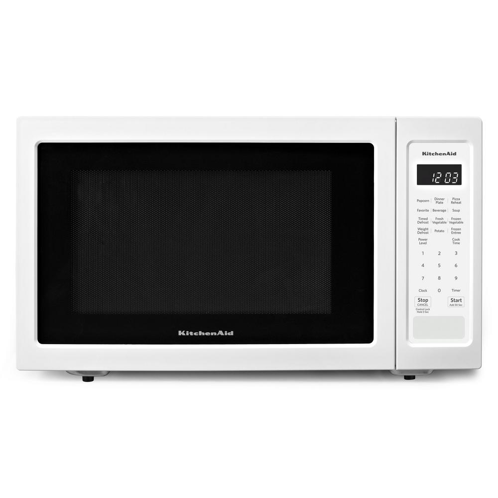 Kitchenaid 1 6 Cu Ft Countertop Microwave In White