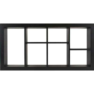 The Gallery Solutions 24 in. W x 3 in. D Black Decorative Wall Shelf