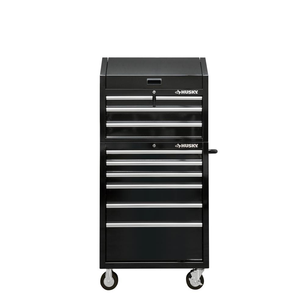 Husky 30 In W 10 Drawer Deep Combination Tool Chest And Rolling