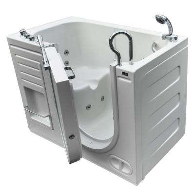 HydroLife 4.27 ft. Right Drain Walk-In Heated Whirlpool Tub in White