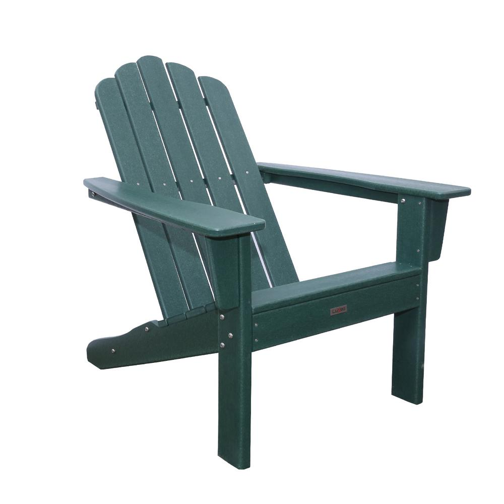 Marina Hunter Green Poly Plastic Outdoor Patio Adirondack Chair