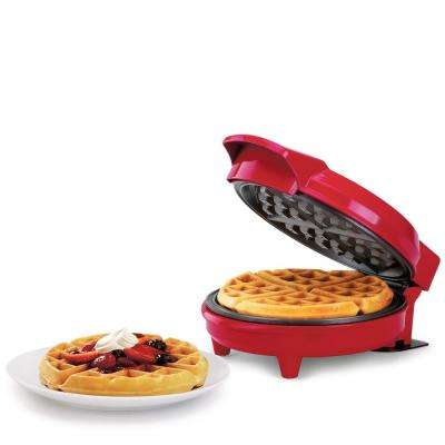 Non-Stick Waffle Maker Red
