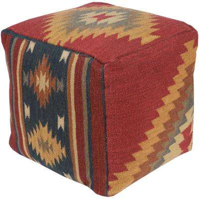 Telesto Dark Red Accent Pouf