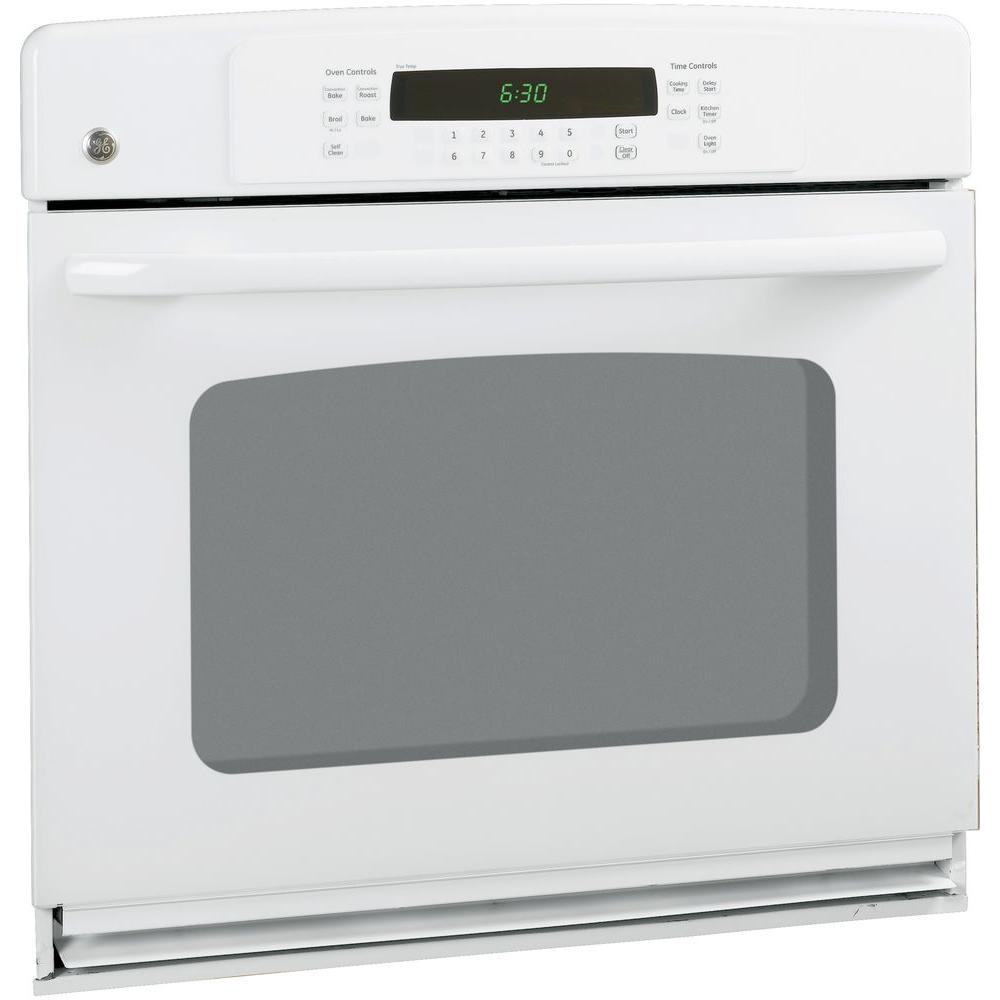 GE 30 in. Single Electric Wall Oven Self-Cleaning with Convection in White GE appliances provide up-to-date technology and exceptional quality to simplify the way you live. With a timeless appearance, this family of appliances is ideal for your family. And, coming from one of the most trusted names in America, you know that this entire selection of appliances is as advanced as it is practical. Color: White.