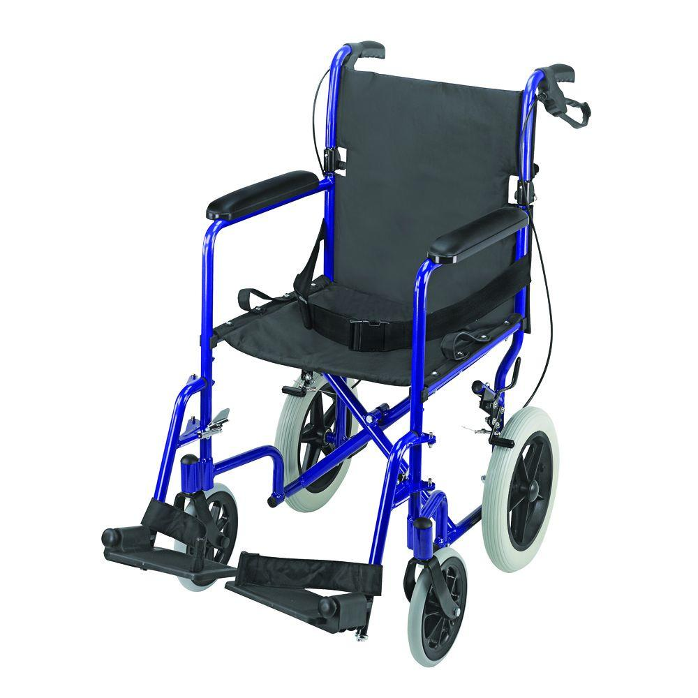 DMI Lightweight Transport Chair in Aluminum