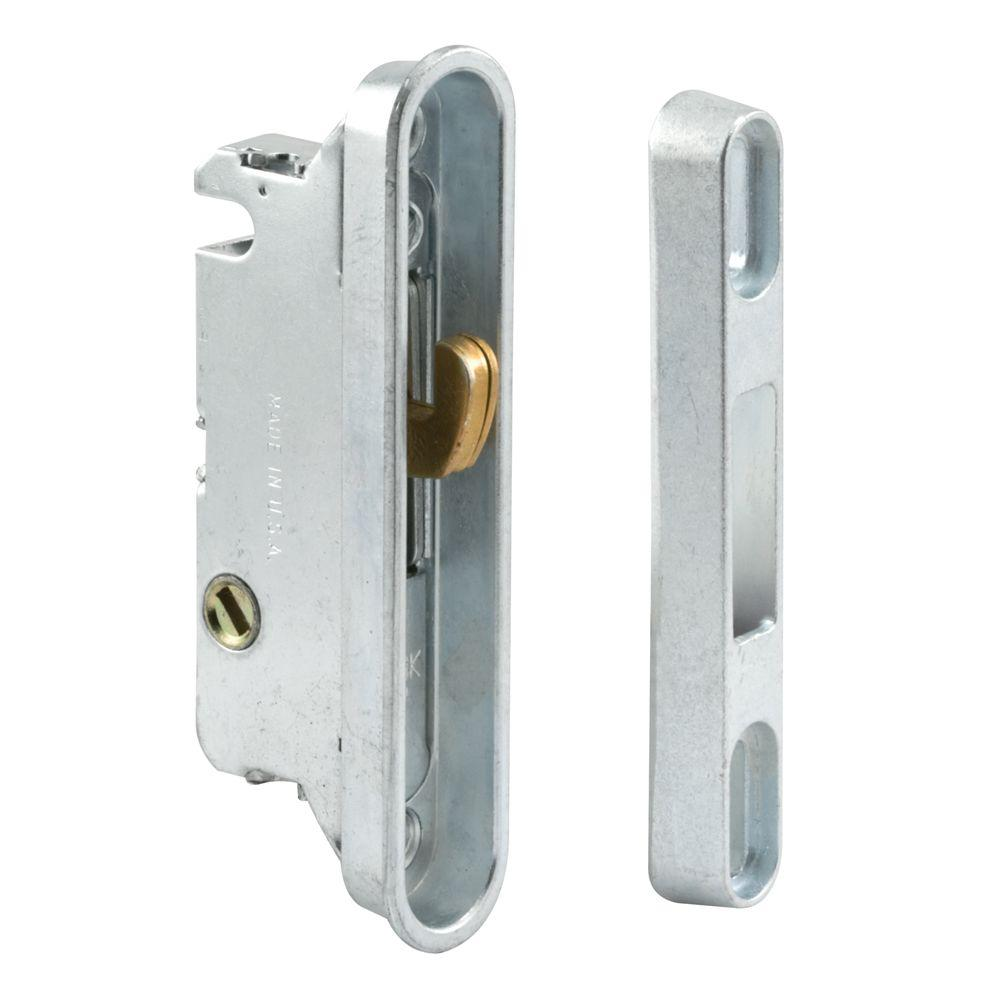 Prime line sliding door mortise lock and keeper e 2487 for Home depot sliding glass door lock