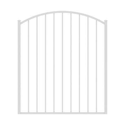 Newtown 4 ft. W x 4 ft. H White Aluminum Arched Pre-Assembled Fence Gate
