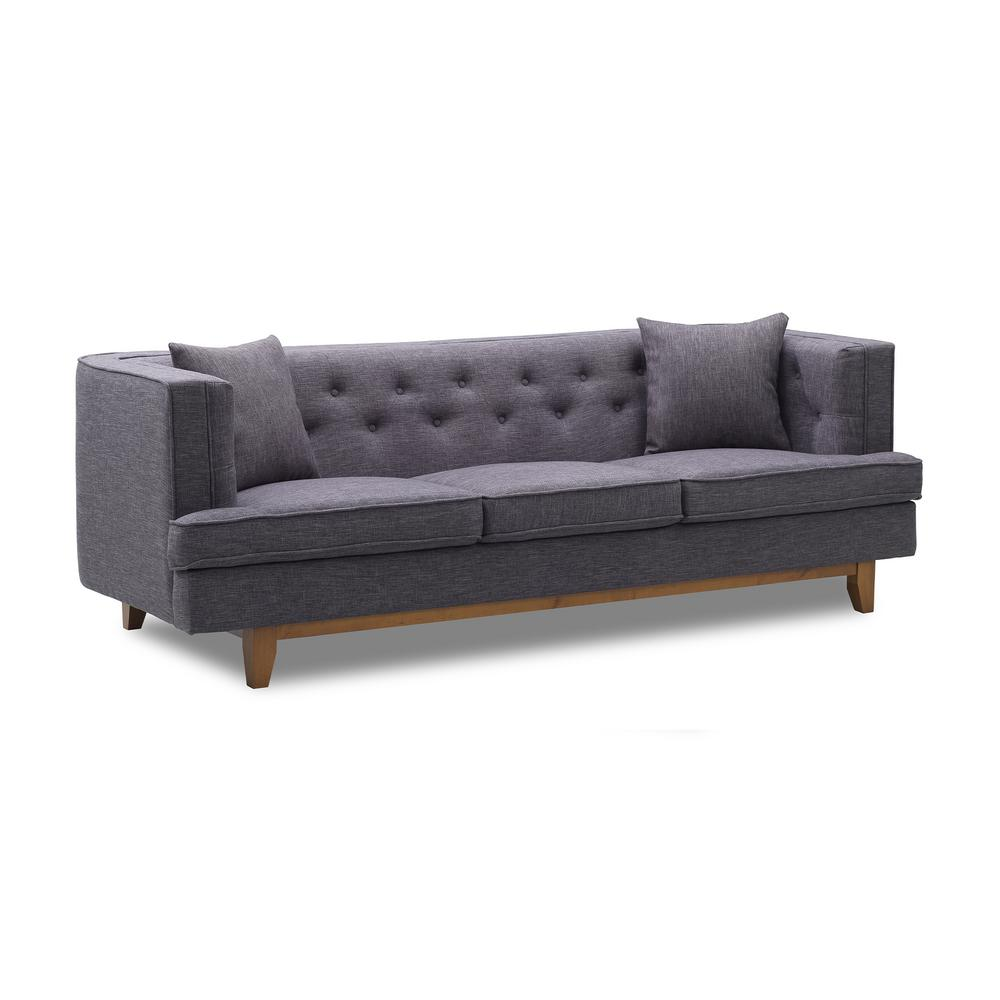 today s mentality caroline charcoal tufted sofa tmcasochchhd the rh homedepot com charcoal tufted sofa bed