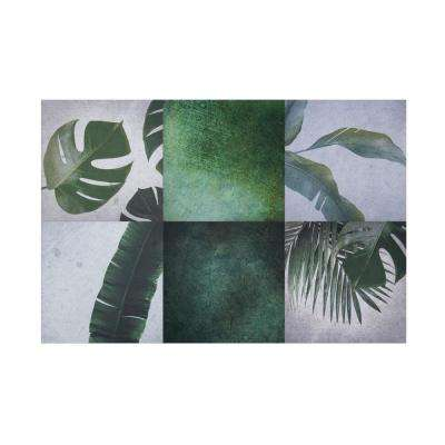 SimpliTILE 6 in. x 6 in. Green Peel and Stick Mosaic Tile (3.75 sq. ft./15-Pack)