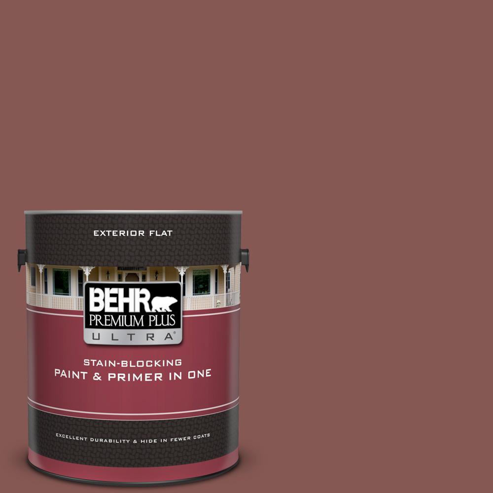 Behr Premium Plus Ultra 1 Gal Mq1 20 Rust Flat Exterior Paint And Primer In One